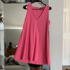 Boohoo pink shift dress